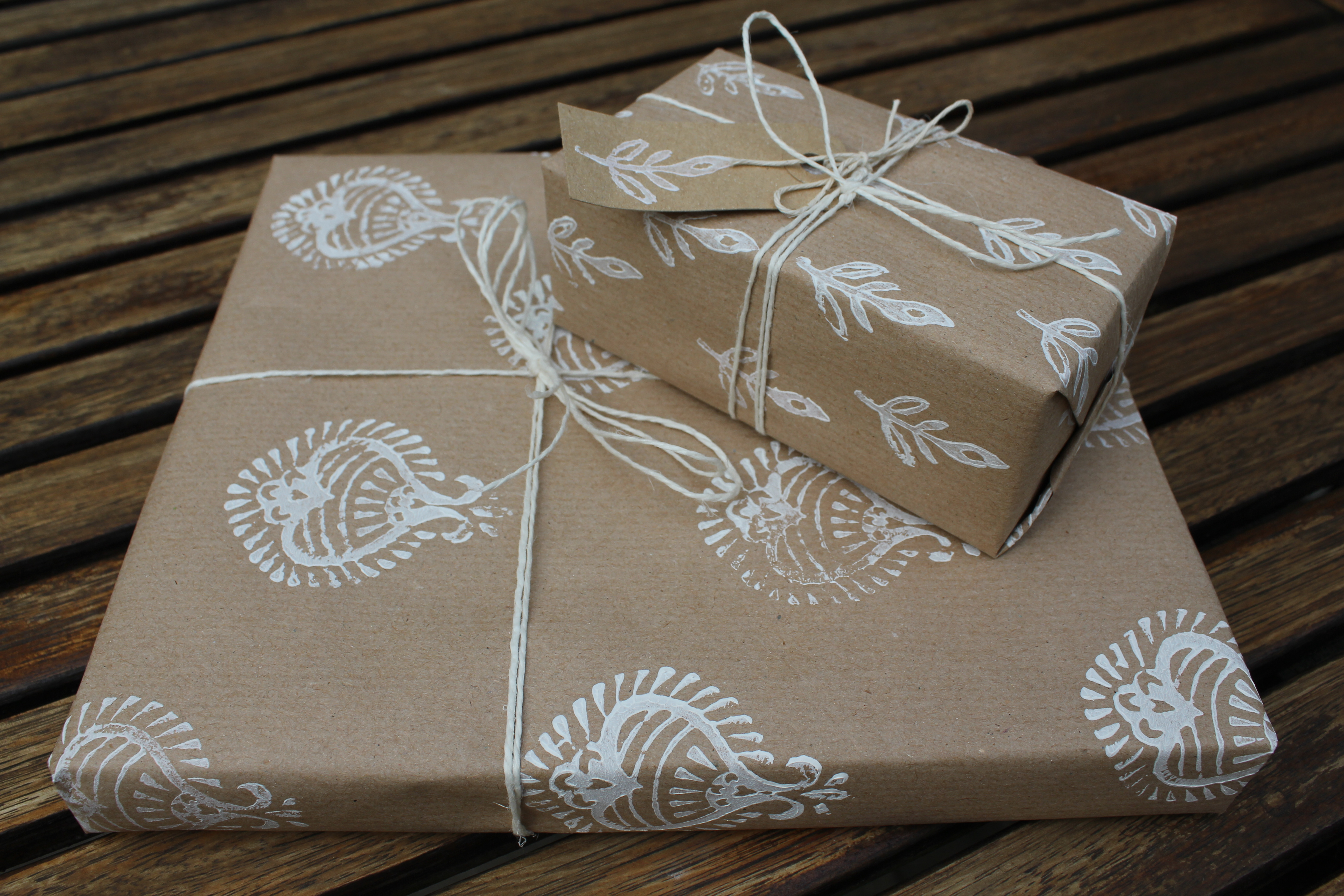 The New Craft House Hand Stamped Wrapping Paper