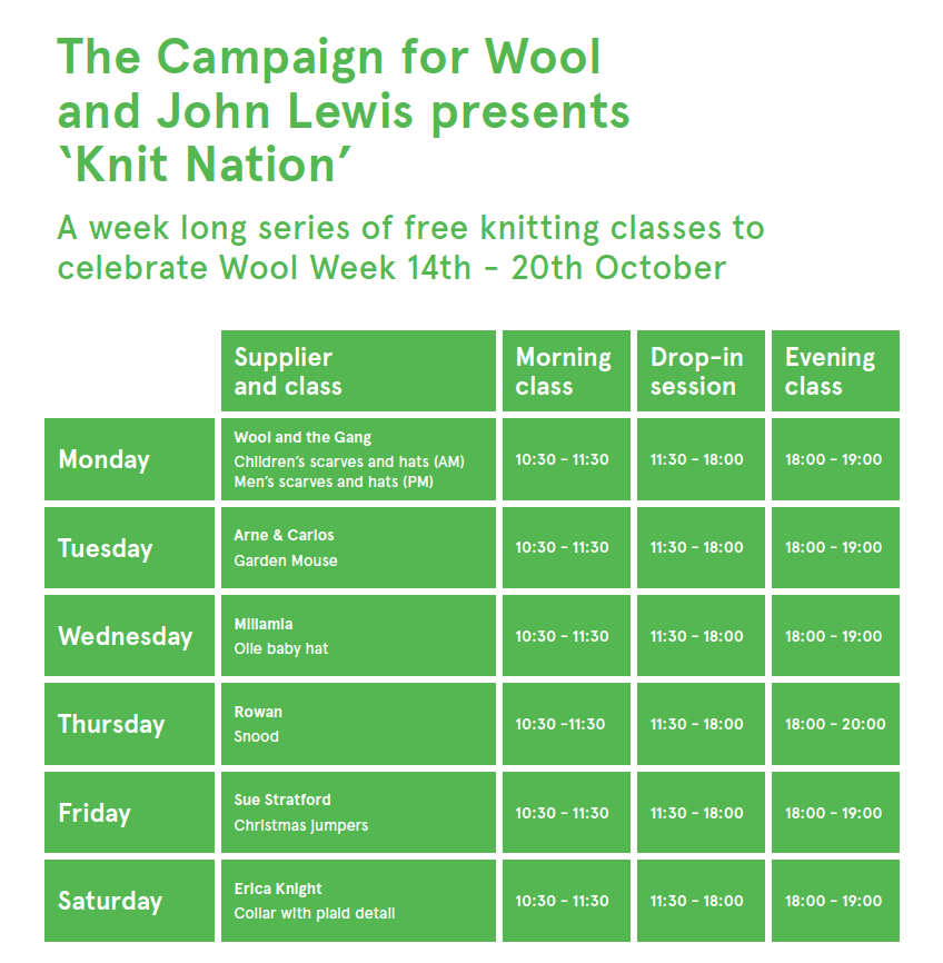 Knitting Lessons London : The new craft house wool week
